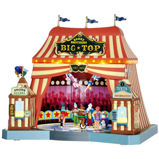 Lemax Village Christmas Building Berry Brothers Big Top Circus Xmas Gift 55918  sc 1 st  eBay & Lemax Village Building Light Sound Berry Brothers Big Top Circus ...