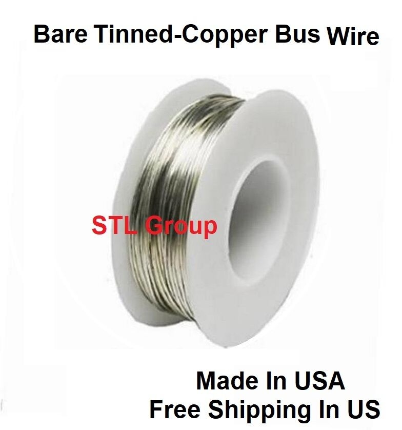 22awg Solid Bare Tinned-copper Bus Wire 1 LB 501 FT Spool | eBay