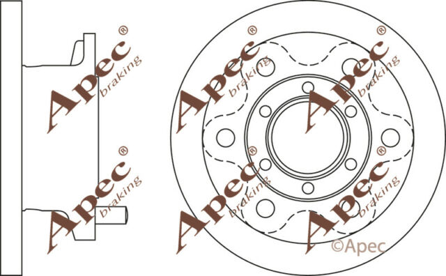 FRONT BRAKE DISCS (PAIR) FOR IVECO DAILY GENUINE APEC DSK2575