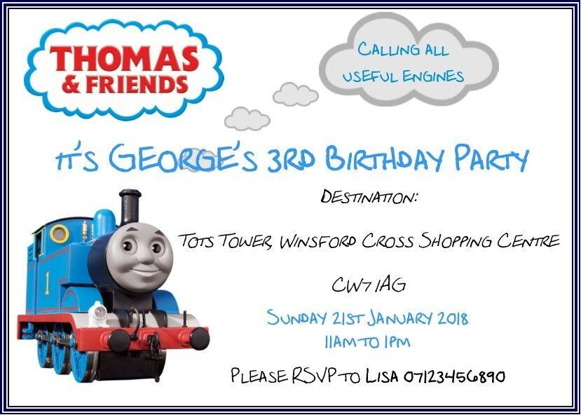 Thomas & Friends Birthday Party Invitations Children Boy Girl | eBay