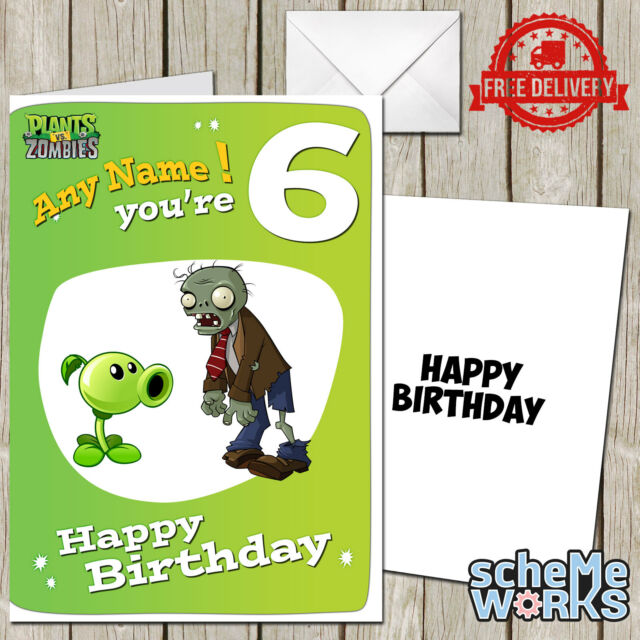 Plants vs zombies personalised birthday greeting card game ca228 ebay plants vs zombies personalised birthday greeting card game ca228 bookmarktalkfo Choice Image