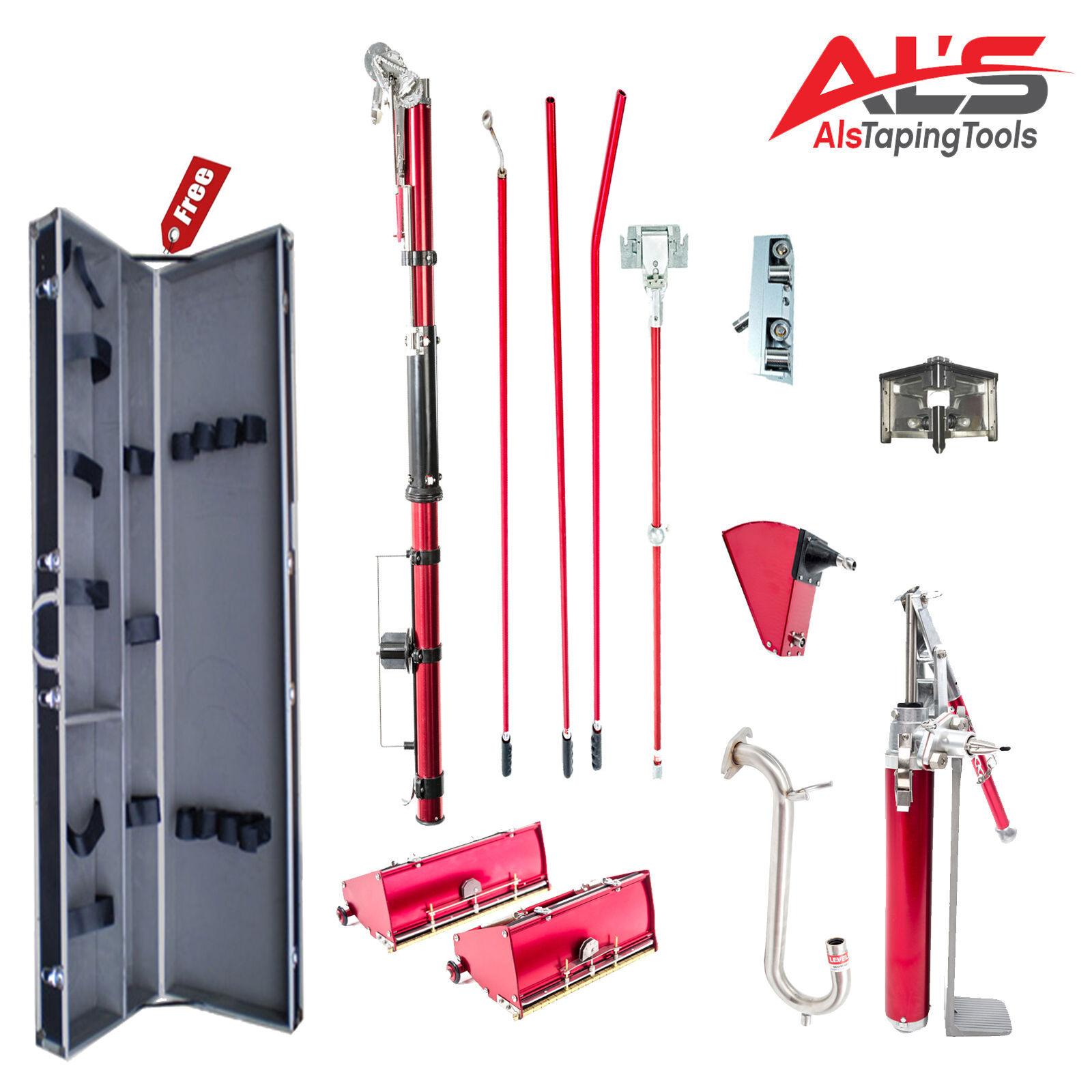 level5 full set of automatic drywall taping tools w free tool case