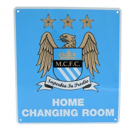 Manchester City FC Metal Sign Home Changing Room Sign ( f50hommc )