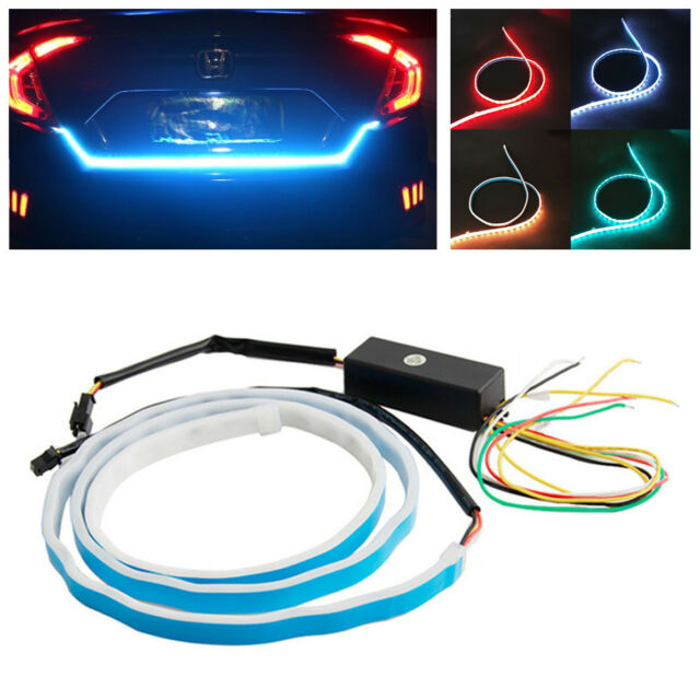 Flow type led strip car trunk side turn signal lights daytime flow type led strip car trunk side turn signal lights daytime runningtail light mozeypictures Image collections