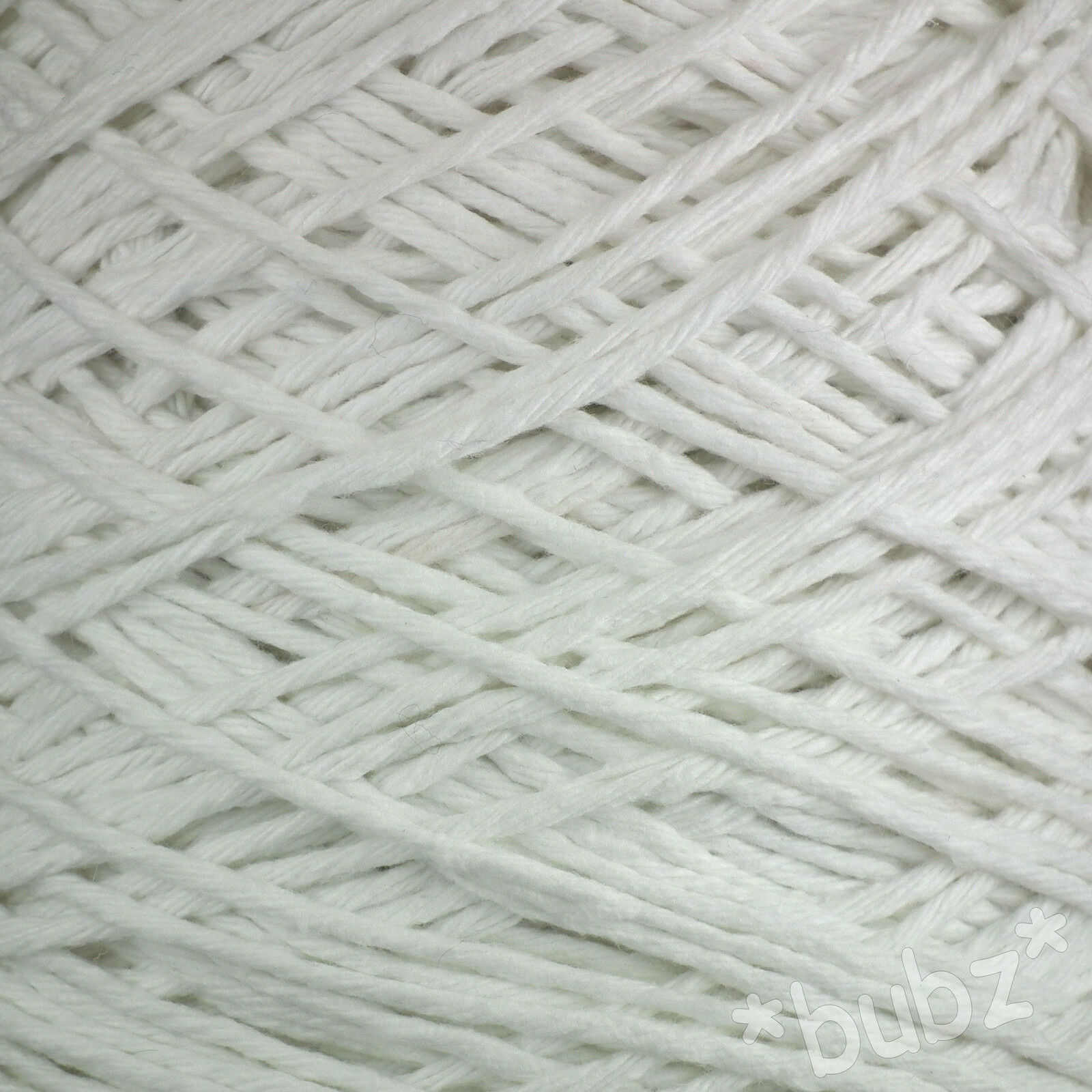 Chunky Super Soft Optic White Pure Cotton Yarn 500g Cone 10 Ball ...