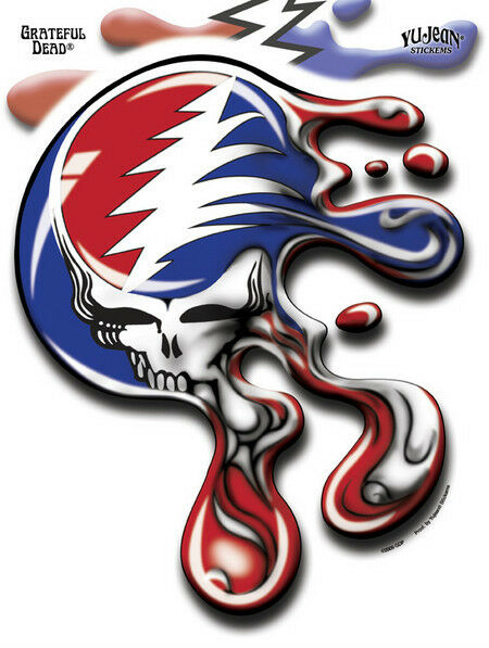 Melting gdp grateful dead melt steal your face jumbo decal 8x10 die cut sticker