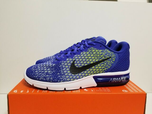 NIKE AIR MAX SEQUENT 2 PARAMOUNT BLUE/BLACK-VOLT 852461 401 NO LID ON