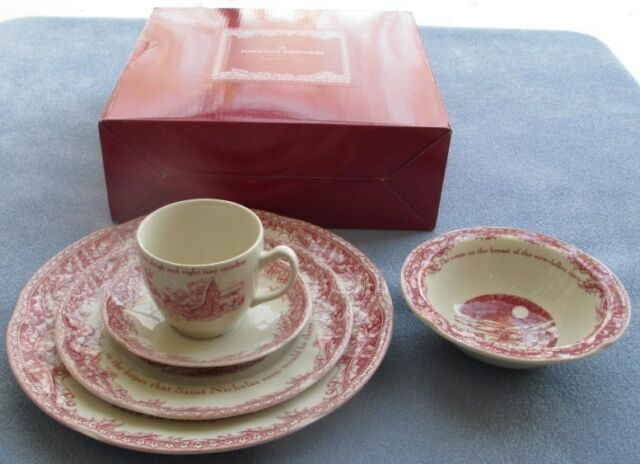 Johnson Brothers Twas the Night Before Christmas 5 Pc Place Setting New in Box & 20 PC Set for 4 Johnson Brothers Twas The Night Before Christmas ...