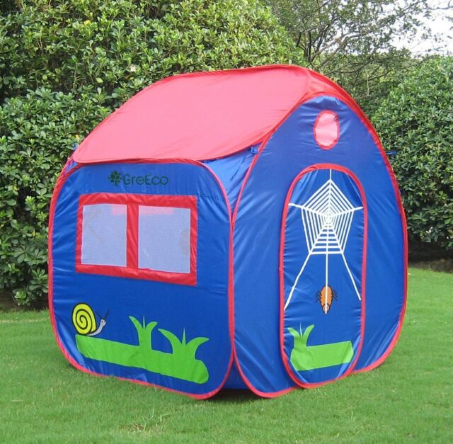 GreEco Kids Pop Up Tent Play House Tent 4 X 3.45 X 3.45 Feet & Kids Pop up Tent Play House Children Boy Gift Blue Fold Indoor ...