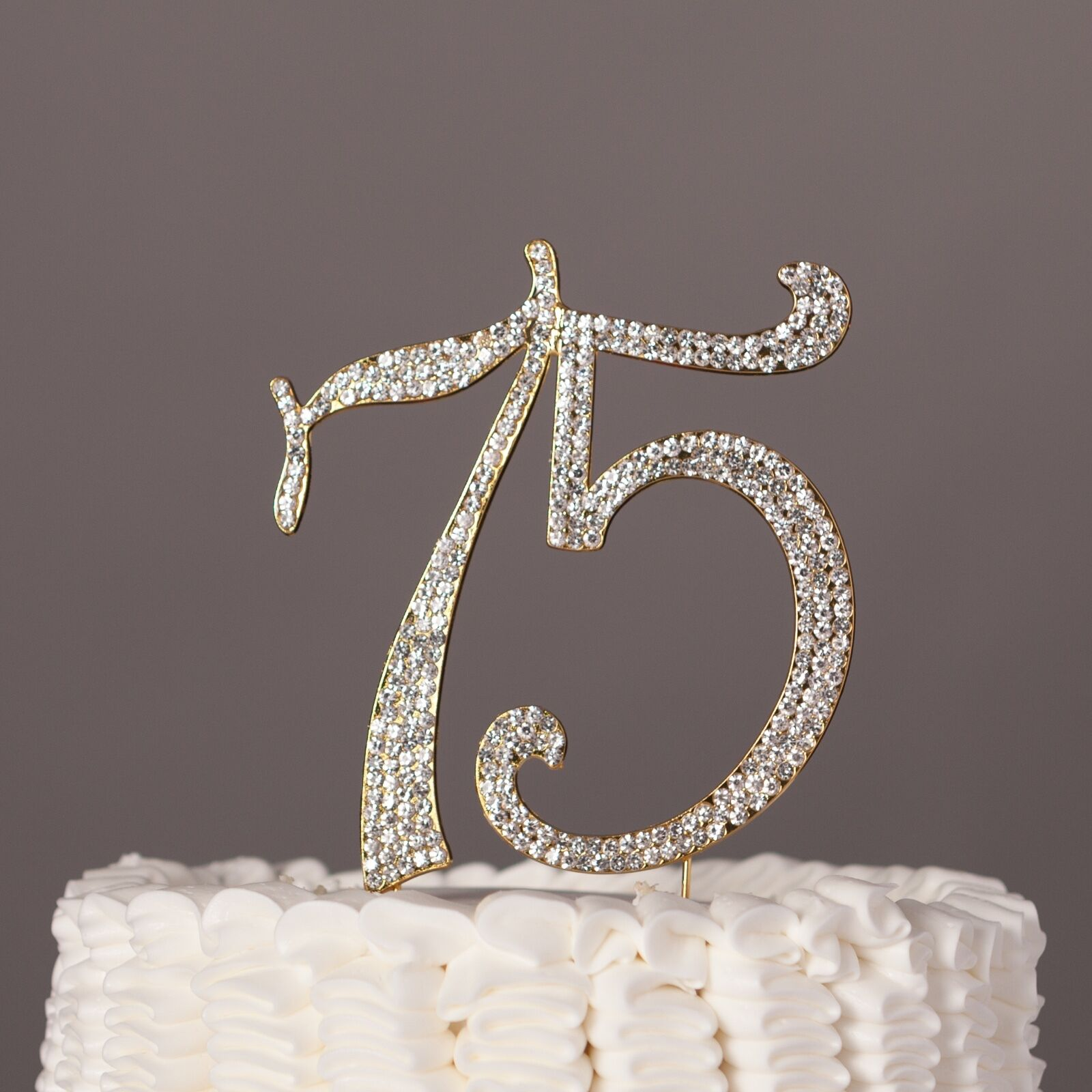 75 Cake Topper For 75th Birthday Or Anniversary Gold Number Party