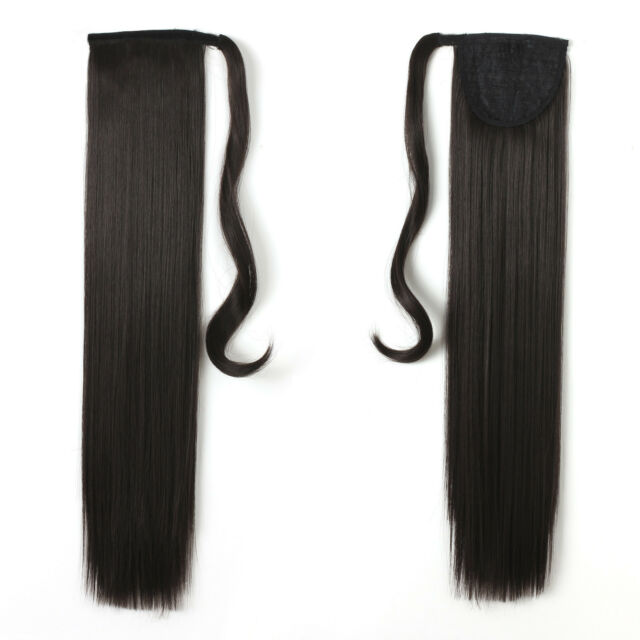 Onedor 24 Inch Straight Long Wrap Around Ponytail Hair Extension