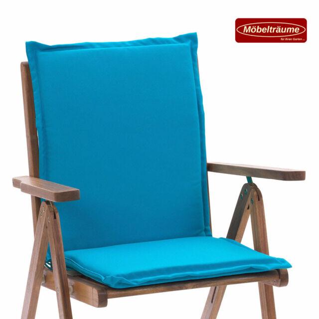 Auflagen für Niederlehner Sessel Stuhl 100 x 47 x 4 cm Esdo 50234-140 uni türkis