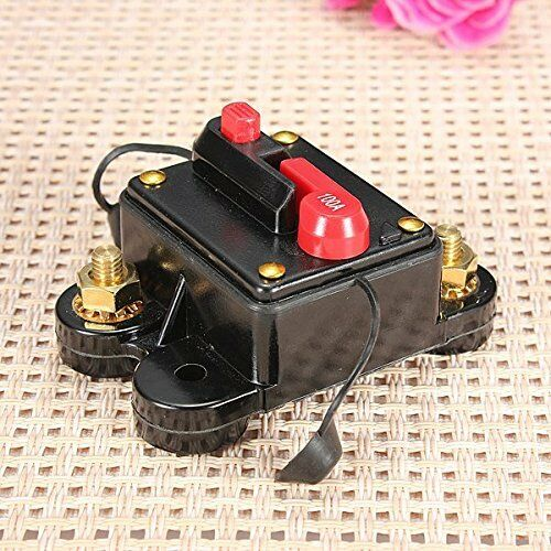 12v/24v Car Auto Boat Audio Fuse Holder 100 Amp Manual Reset Circuit Breaker