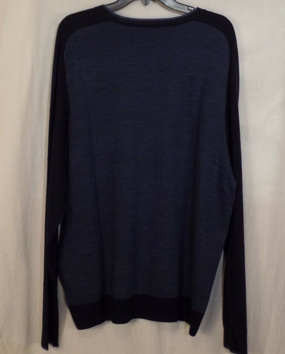 APT 9 Sweater Mens 2xl Dark Navy Blue Raglan Crewneck Merino Wool ...