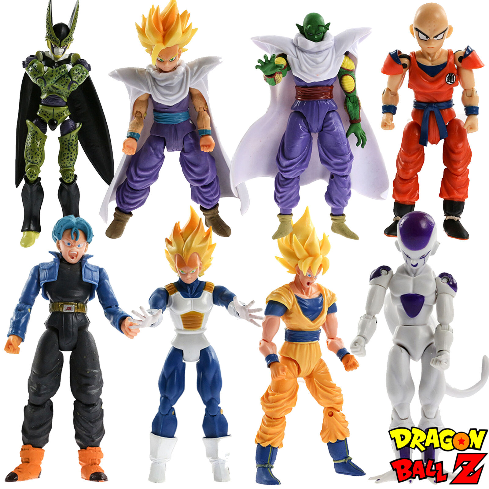 8pcs set Dragonball Z Dragon Ball DBZ Joint Movable Action Figures