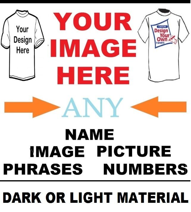 create your own custom t shirt iron on transfer any image requests