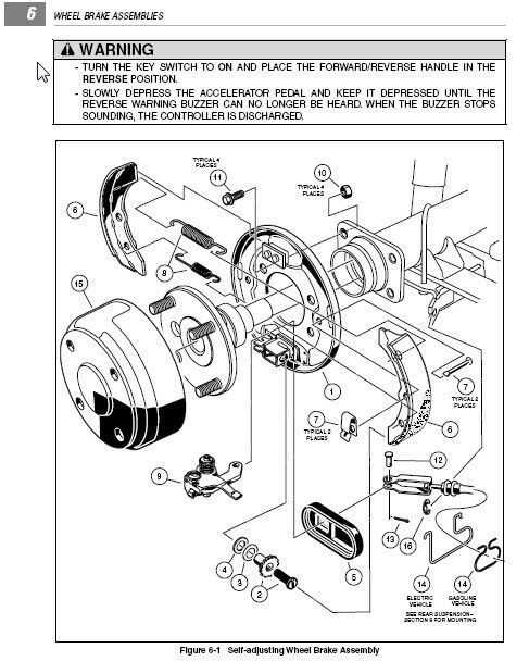 club car manual ebay rh ebay com 48 Volt Club Car Wiring Diagram Club Car 48 Volt Information