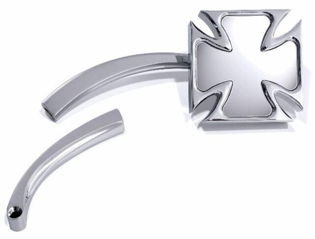 Mini Spiegel Malteser Eisernes Kreuz Chrom für Harley Sportster Motorradspiegel