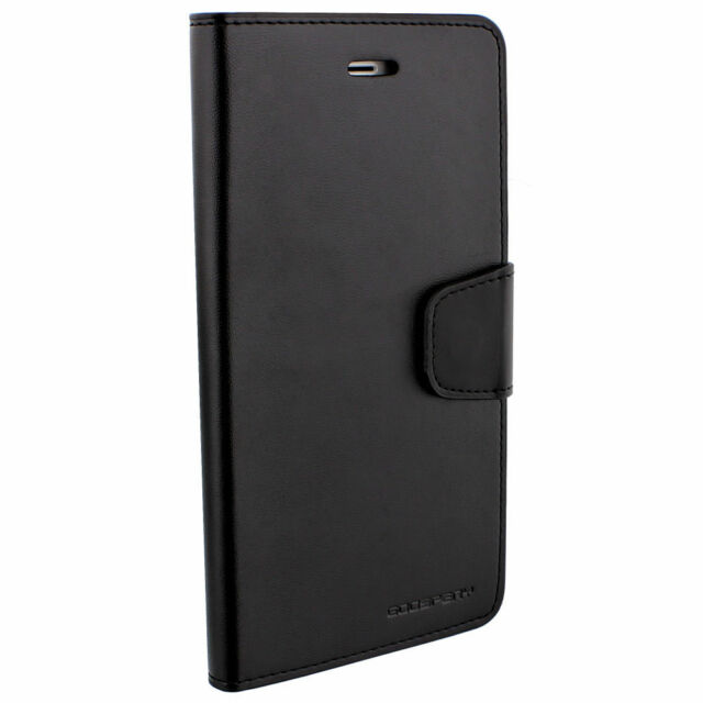 Genuine MERCURY Goospery Black Leather Flip Case Wallet Cover For iPhone 6/6s