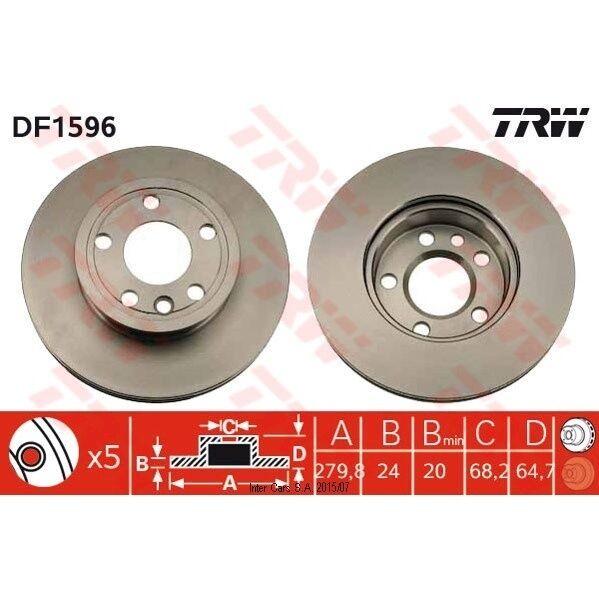 Bremsscheibe, 1 Stück TRW DF1596