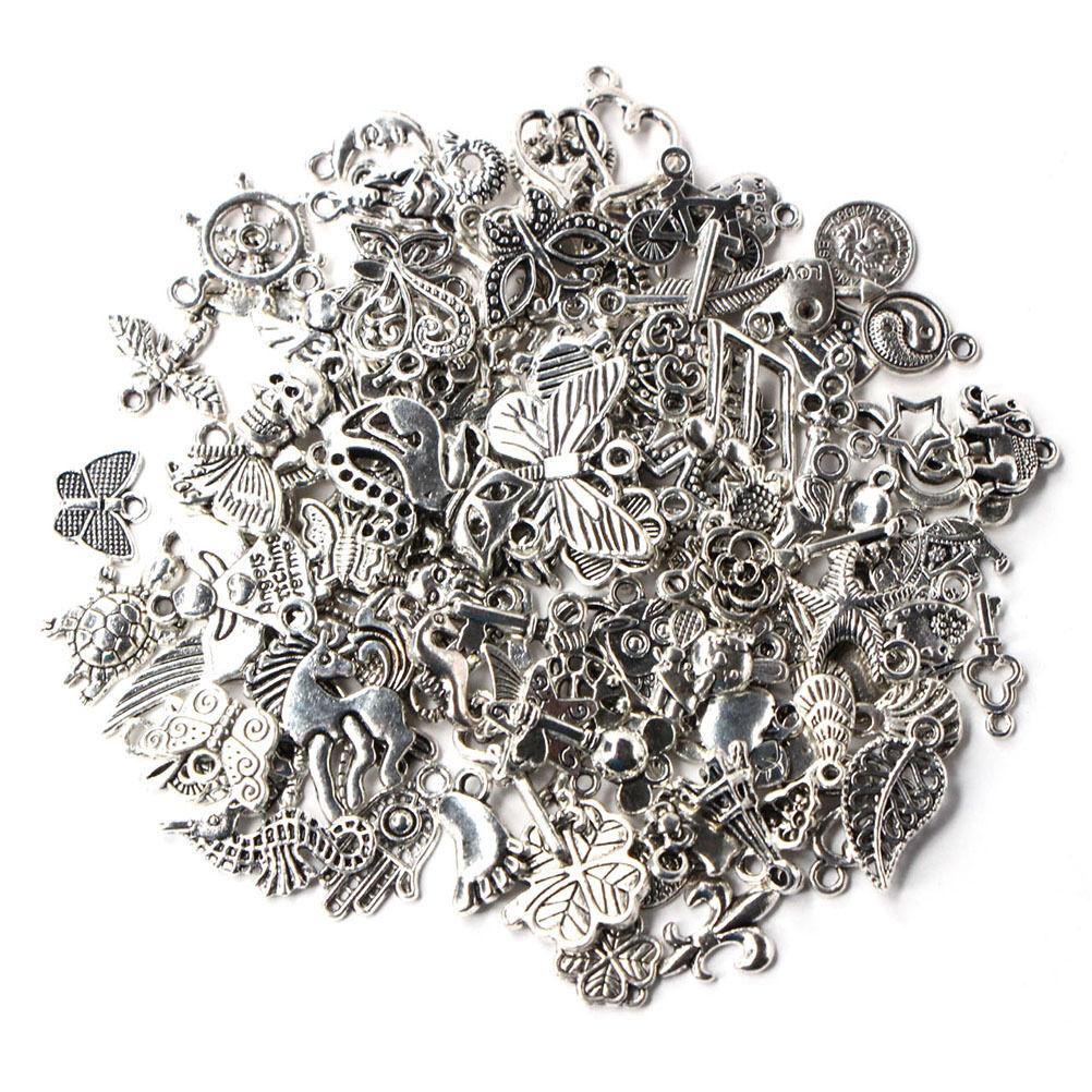 Wholesale 100pcs bulk lots tibetan silver mix charm pendants jewelry picture 1 of 6 aloadofball Gallery