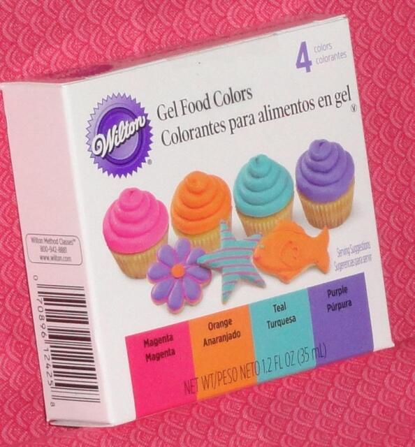 Neon GEL Food Colors 4 Pack Wilton Edible | eBay
