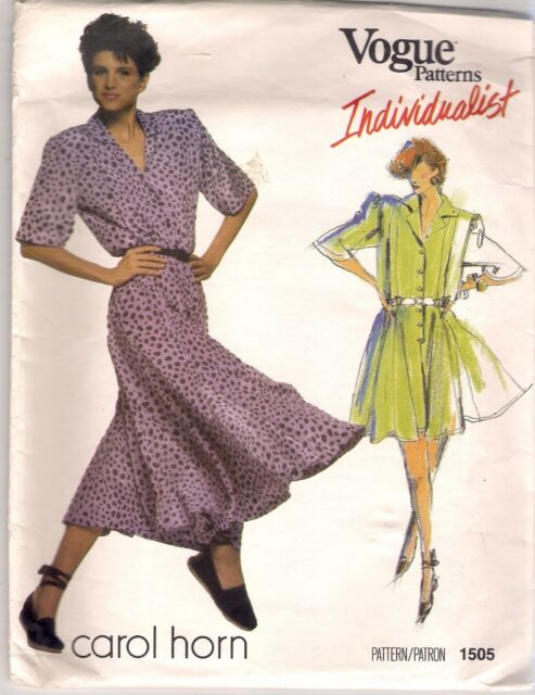 Vogue DESIGNER Sewing Pattern 1505 Carol Horn Dress or Jumpsuit Size ...