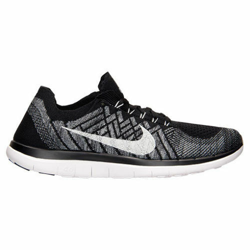 Nike 4.0 Flyknit Mens Running Shoes 10.5 Black White Wolf Grey 717075 001 |  eBay