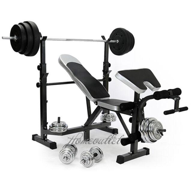 Gym Equipment Legs: Home Multi Gym Weight Bench Arm Leg Curl Equipment Fitness