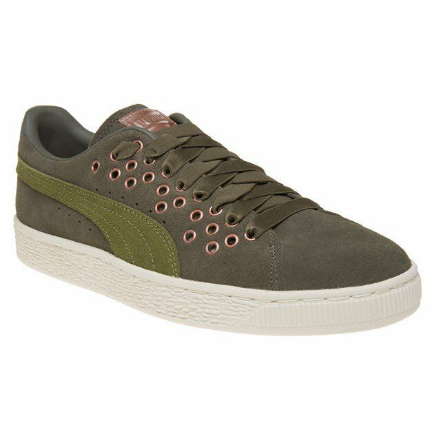 Buy Olive Night Velvet Puma Suede Xl Lace Womens Shoes