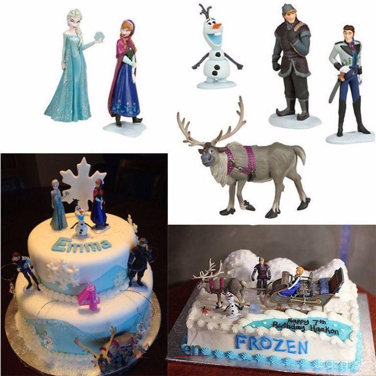 Hot Disney Frozen Anna Elsa Hans Kristoff Sven Olaf 6pcs Figures
