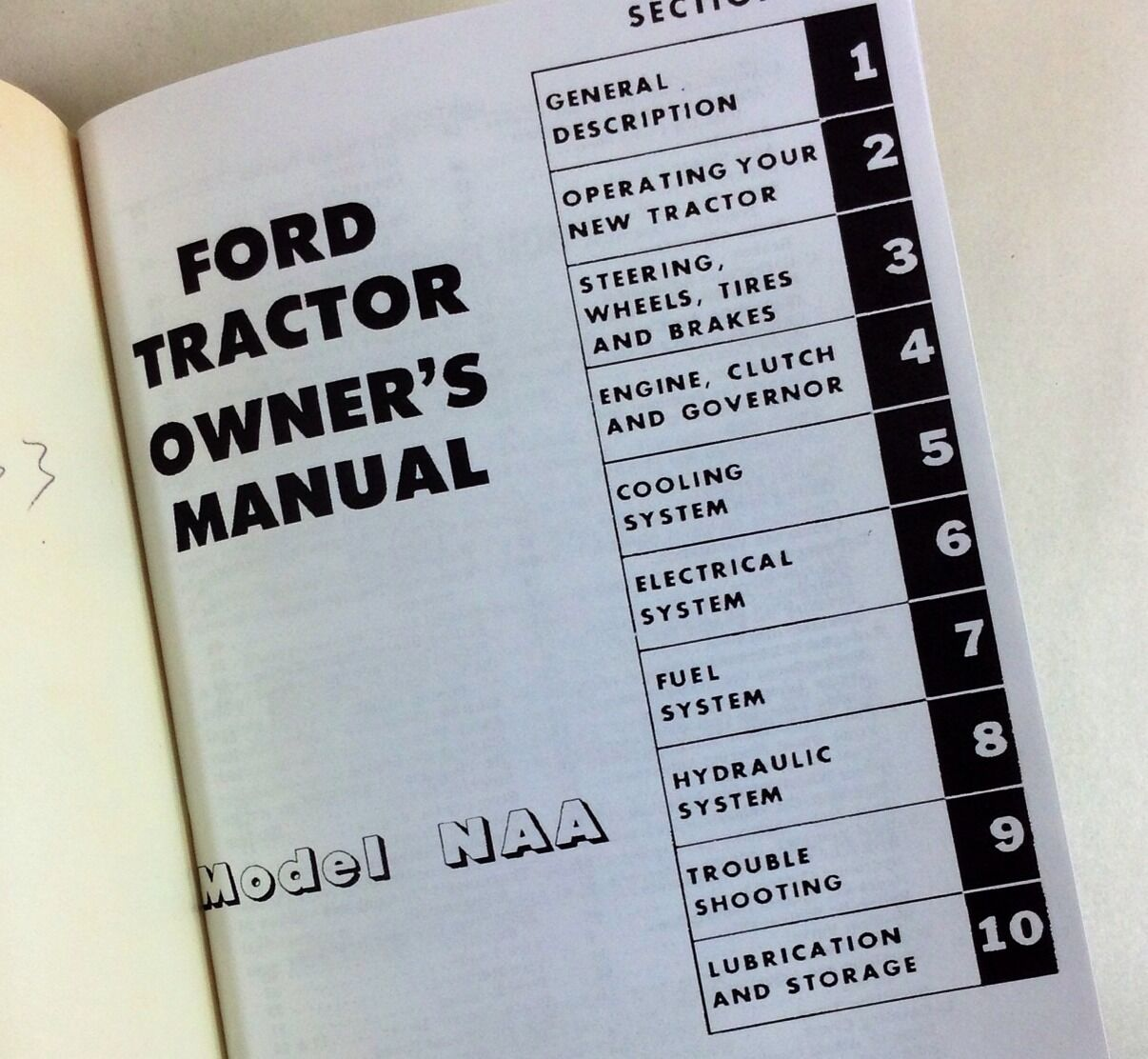 Ford Tractor Model Naa Owners Operators Manual User Guide Operation Wiring Diagram Pre Owned Lowest Price