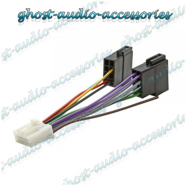 panasonic 16 pin iso wiring harness adaptor connector lead cable rh ebay com Wiring Harness Pin Removal Tool Boss Wiring Harness 16 Pins