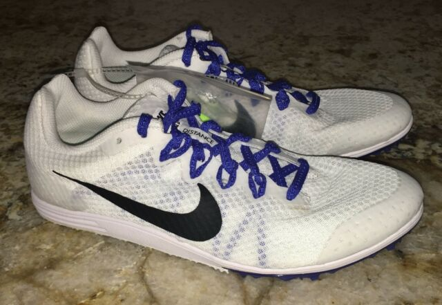 NIKE RIVAL D 9 White Black Mid Distance Track Spikes Shoes Women 7 8 9 10.5
