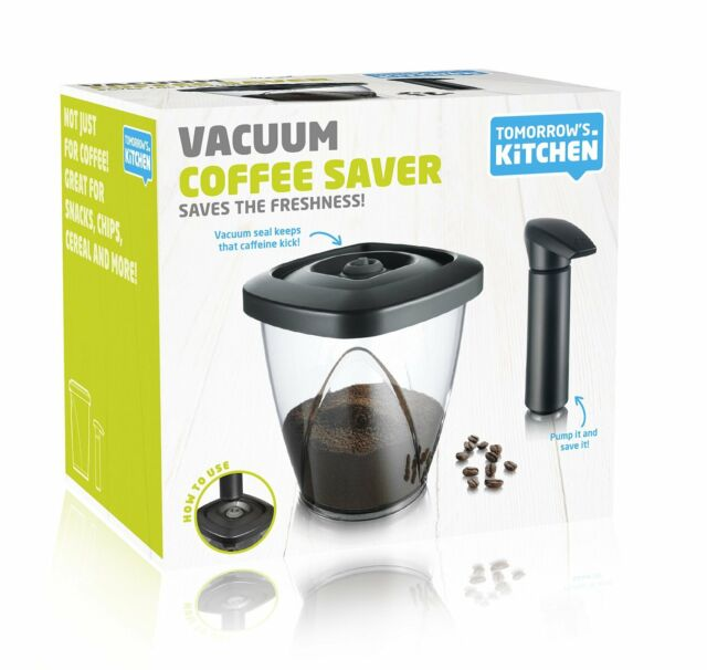 Vacu Vin Coffee and Tea Storage Container with Vacuum Pump - Medium, 1.30 Litre