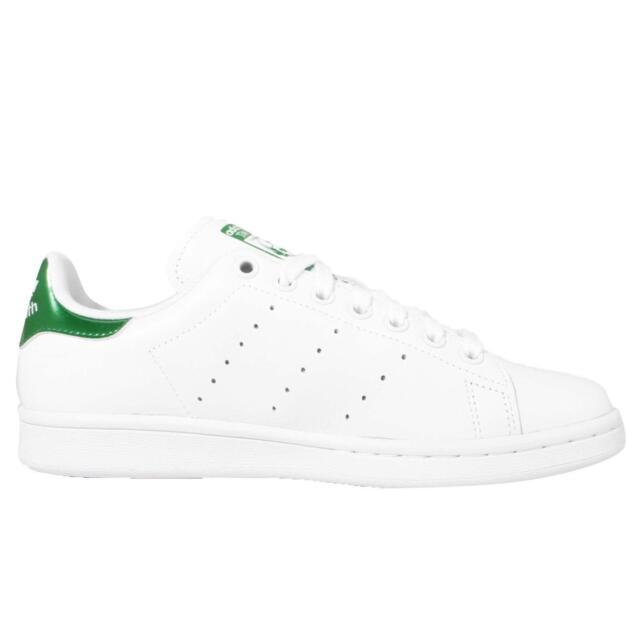 adidas originali stan smith w bianco, verde metallizzato scarpe femminili