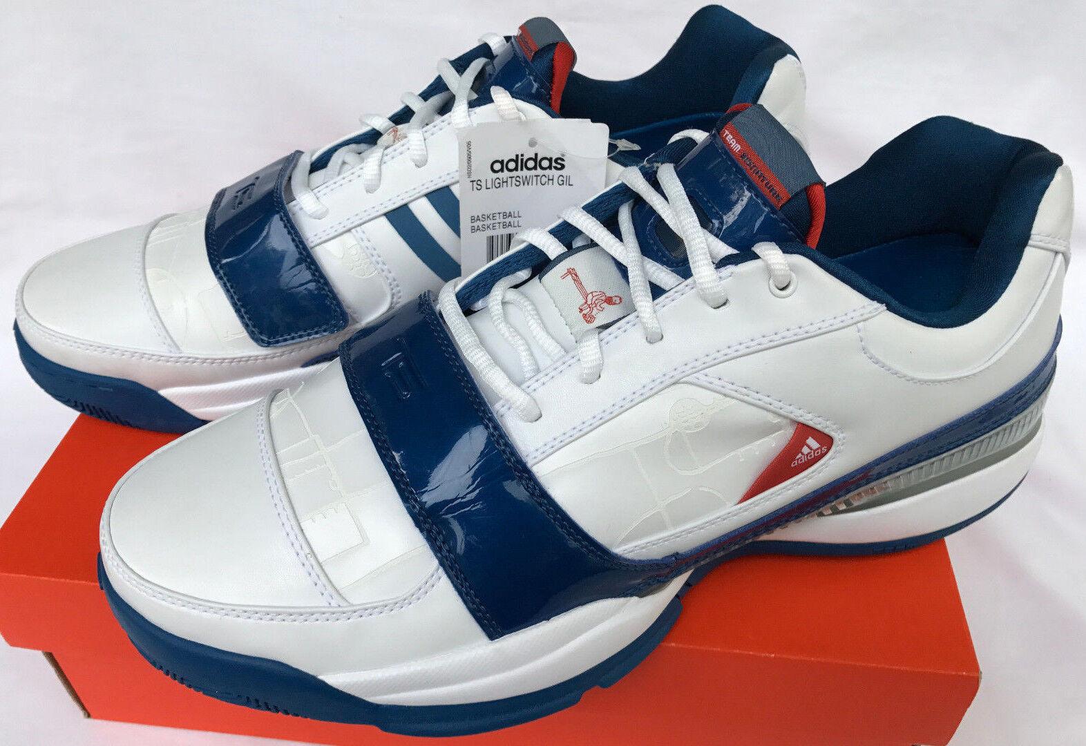Adidas TS Lightswitch Gil 061790 Gilbert Arenas Wht Basketball Shoes Men's 11.5