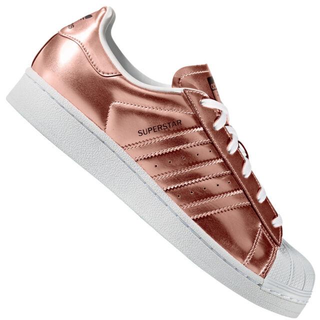 ADIDAS Originals Superstar W DonnaSneaker METALLIZZATO RAME ARGENTO Scarpe da ginnastica nuovo