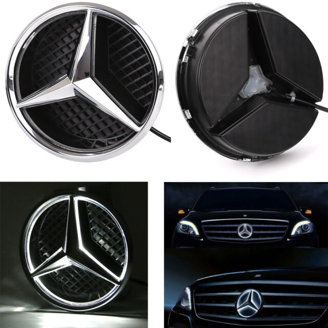 1x front grille grill star emblem for mercedes benz 06 13 for Mercedes benz led star