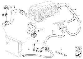 Engine Water Bypass Hose Genuine BMW 3 Series E46 316i 316ci 318i 11531247398