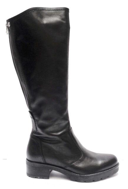 Nero Giardini 13944 stivali da donna in pelle col. Nero con cerniera  posteriore