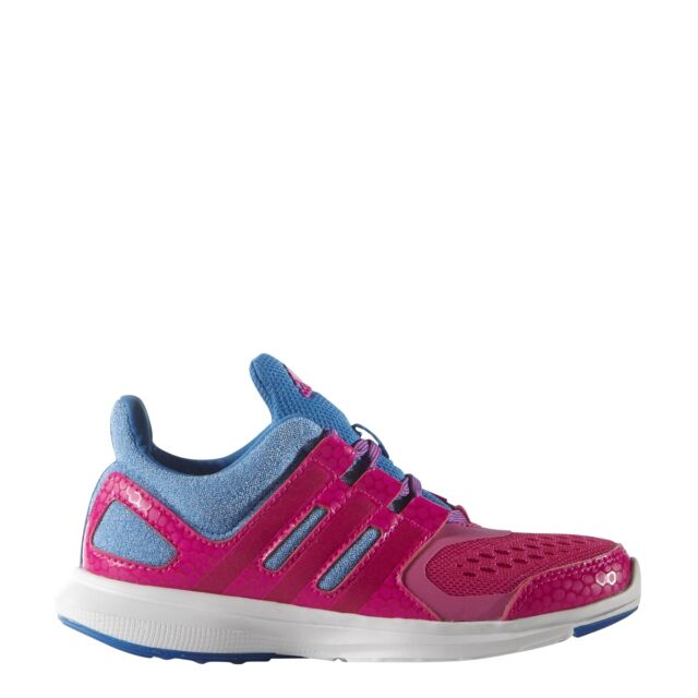 Children's Adidas Hyperfast 2.0 K Pink Lace Running Shoes AF4511 Girl's ...