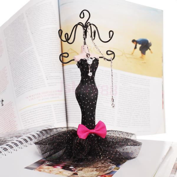 Elegant Mermaid Evening Dress Earring Mannequin Jewelry Display