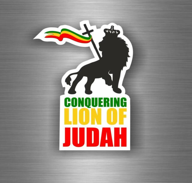 Sticker car decal rasta reggae jah macbook lion of judah one love rastafarai r22