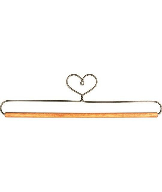 One 9 Inch Wire Quilt Hanger Heart Top Wood Dowel Holder Ackfeld ... : ackfeld quilt hangers - Adamdwight.com