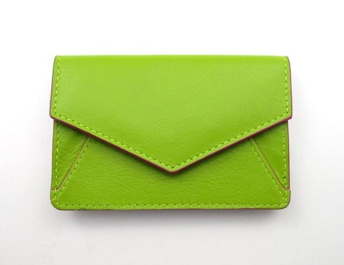 Ili leather envelope business card or credit card case holder leaf picture 1 of 4 colourmoves Choice Image
