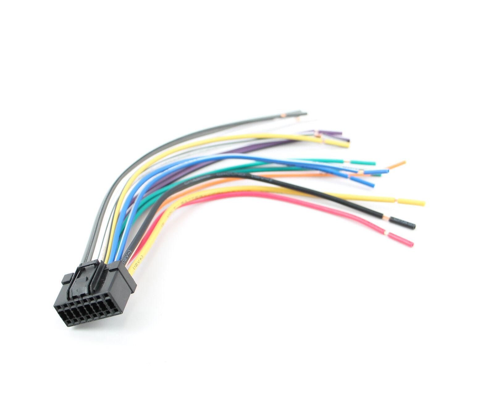 best kit bhpan16a panasonic 16 pin cd player radio head unit wiring rh ebay com Boss Wiring Harness 16 Pins Boss Wiring Harness 16 Pins