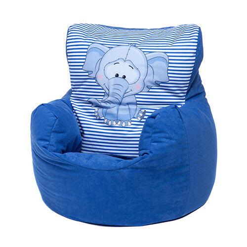 Blue Ellie Childrens Character Filled Beanbag Kids Bean Bag Chair Bedroom