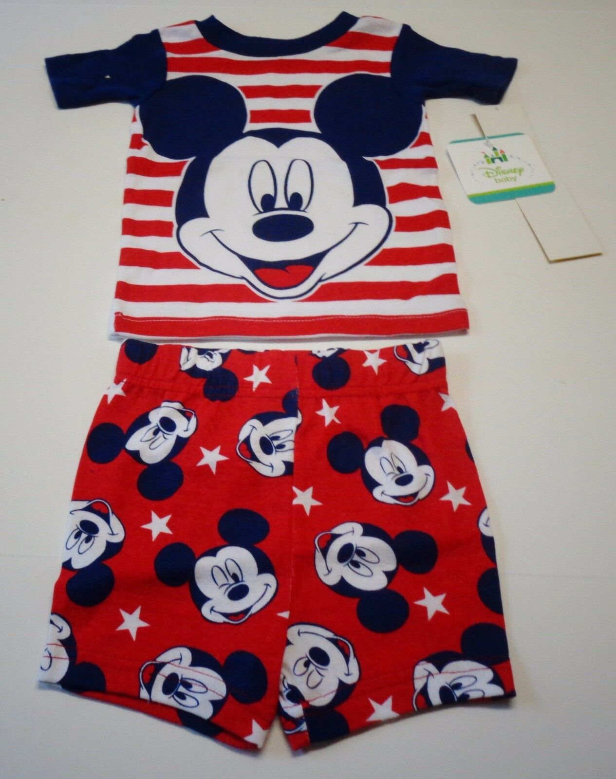 Mickey Mouse Pajamas Baby Boy Infant 12 Month Size Disney Outfit 2