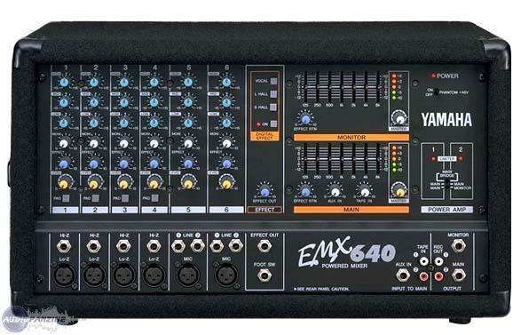 yamaha emx640 powered mixer amplifier emx 640 power amp